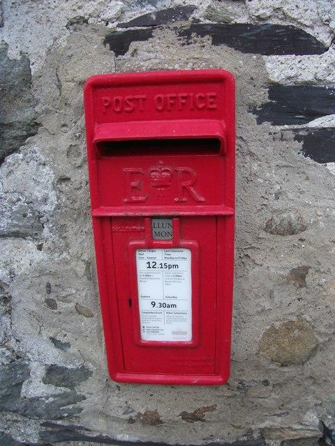 Elizabeth II Post  box, Llanllechid