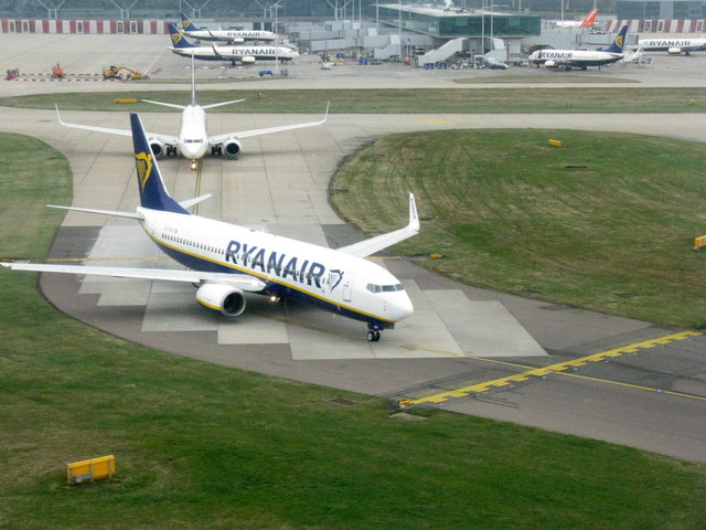 Ryanair at London Stansted Airport