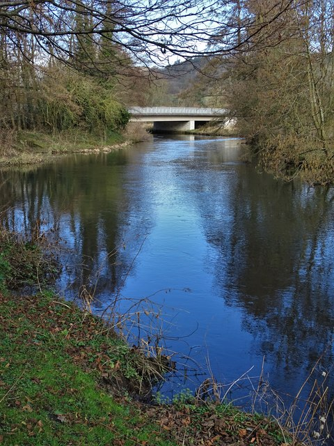 Meaden Bridge and The River Wye