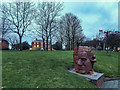 SJ8747 : Brick Head Statue, Festival Park by Brian Deegan