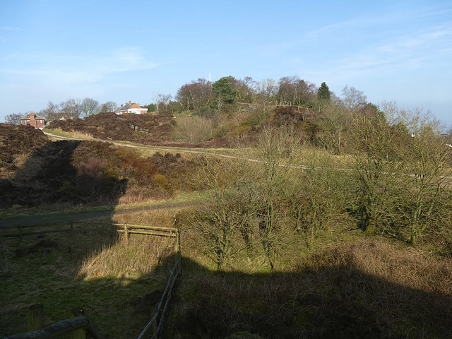 Former quarry at Mow Cop