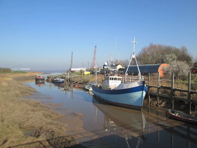 Decommissioned  fishing  boat  berthed  at  Barrow  Haven