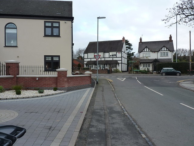 Jacob's Hall Lane joins the A34 Walsall Road