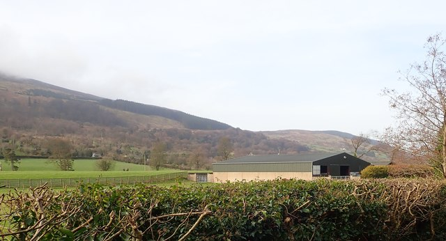 A recently built farm shed on the Ballintemple Road