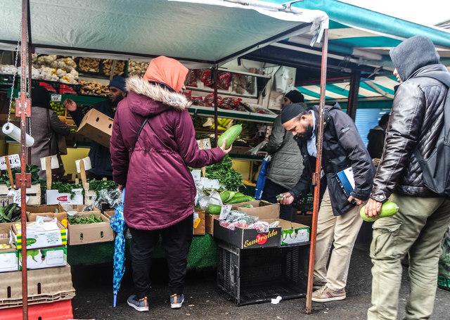 Oldham Market Shoppers