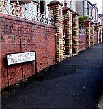 ST2896 : Bilingual name sign, Mount Pleasant Road, Cwmbran by Jaggery