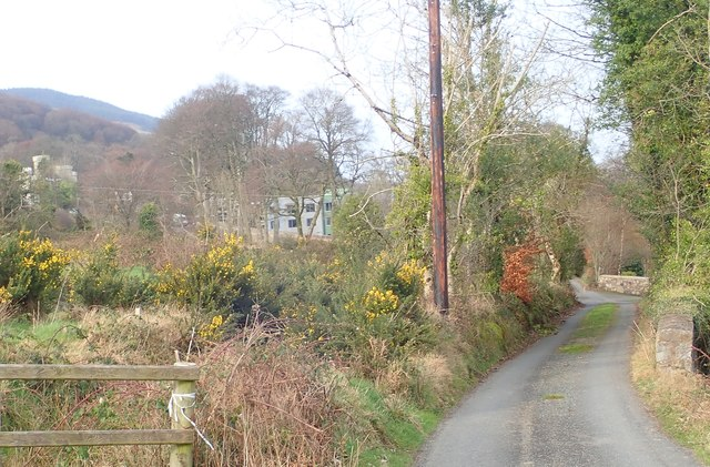 Approaching the end point of Wood Road