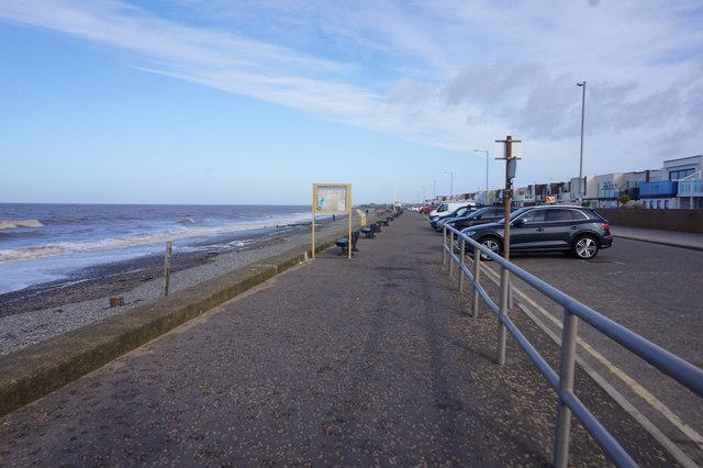 Rossall Promenade towards Fleetwood