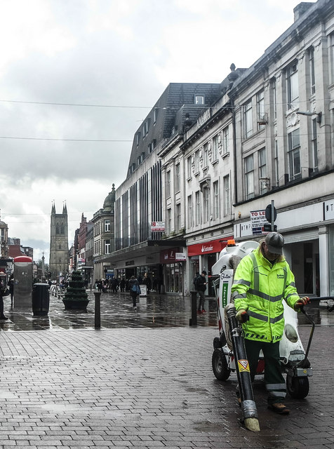 Street Cleaner, Deansgate, Bolton