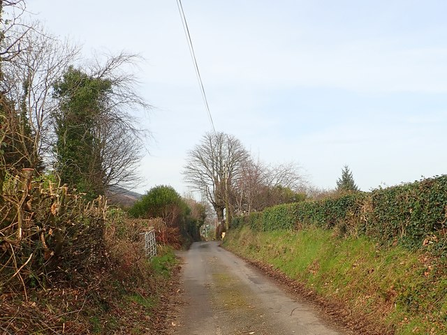 The northern section of Wood Road, Killeavy