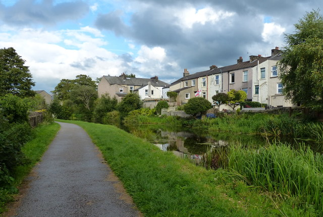 Houses along the Lancaster Canal in Lancaster