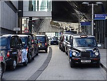 SP0786 : Taxis outside New Street Station by Philip Halling