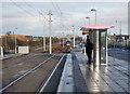 NT1871 : Edinburgh Park Station tram stop by Craig Wallace