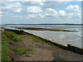 TQ6775 : Shoal on flats off East Tilbury Marshes by Robin Webster