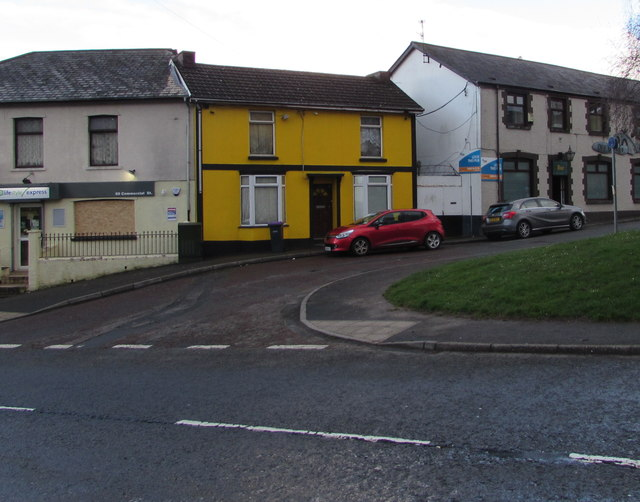 Yellow house, Commercial Street, Pontnewydd, Cwmbran