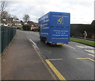 ST3091 : Blue George Street Furnishers vehicle, Almond Drive, Malpas, Newport by Jaggery