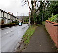 ST2896 : Pavement diverging from Five Locks Road, Cwmbran by Jaggery
