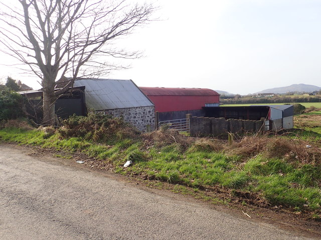Traditional farm outbuildings on the western side of Foughilletra Road