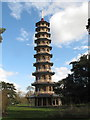 TQ1876 : Kew Gardens pagoda with dragons at ten levels by David Hawgood