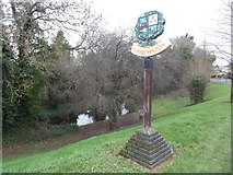 TL4856 : The Village Sign at Cherry Hinton by David Hillas
