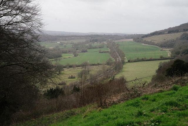 View From Denbies Hillside