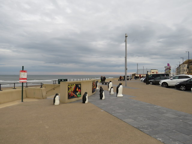 Penguins on the seafront, Redcar