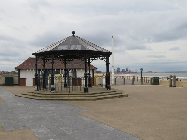 Shelter on the seafront, Redcar