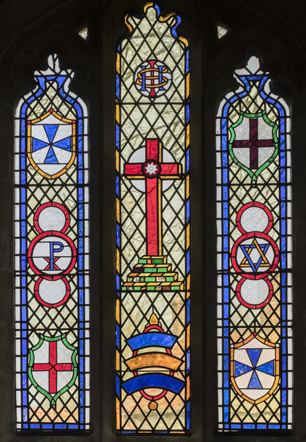 Stained glass window, Ss Peter & Paul church, Osbournby