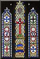 TF0638 : Stained glass window, Ss Peter & Paul church, Osbournby by Julian P Guffogg