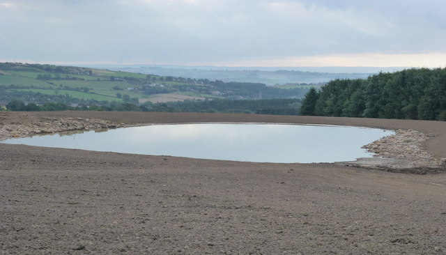 West pond on Park Wall North Surface Mine