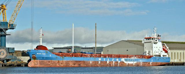 """The """"Wilson Cadiz"""", Belfast harbour (March 2019)"""