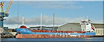 """J3576 : The """"Wilson Cadiz"""", Belfast harbour (March 2019) by Albert Bridge"""