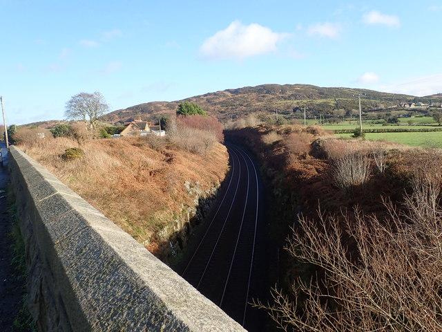 The railway cutting above Killeen Bridge