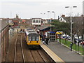 NZ6024 : Train arriving at Redcar Central station by Malc McDonald