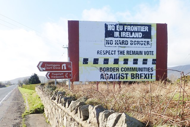 Anti-Brexit Poster at Killeen Railway Bridge