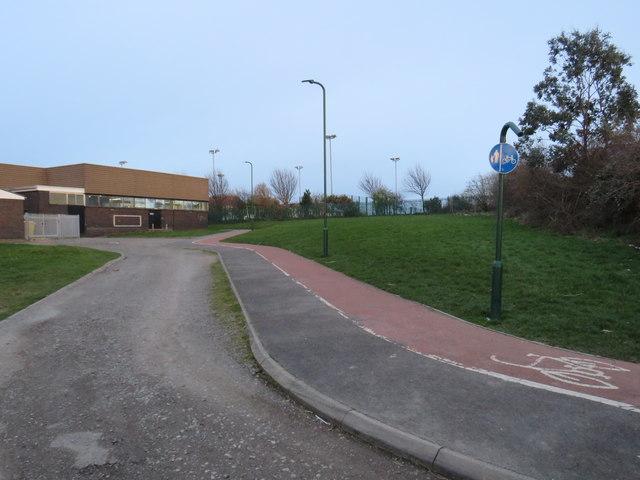Path near Saltburn leisure centre