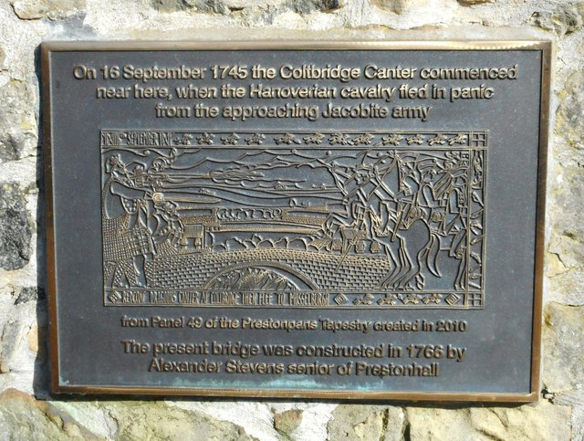 Plaque on Roseburn Old Bridge