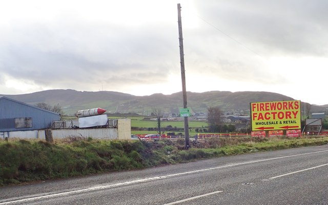Firework Factory on the B113 (Dublin Road)
