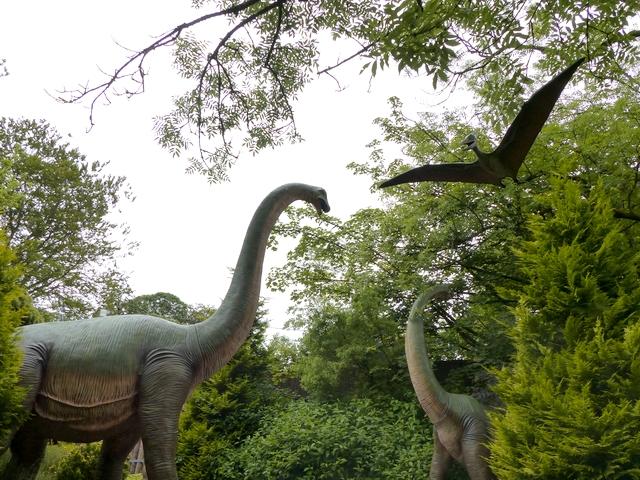 Dinosaurs in the Dino Park at Hetland Garden Centre