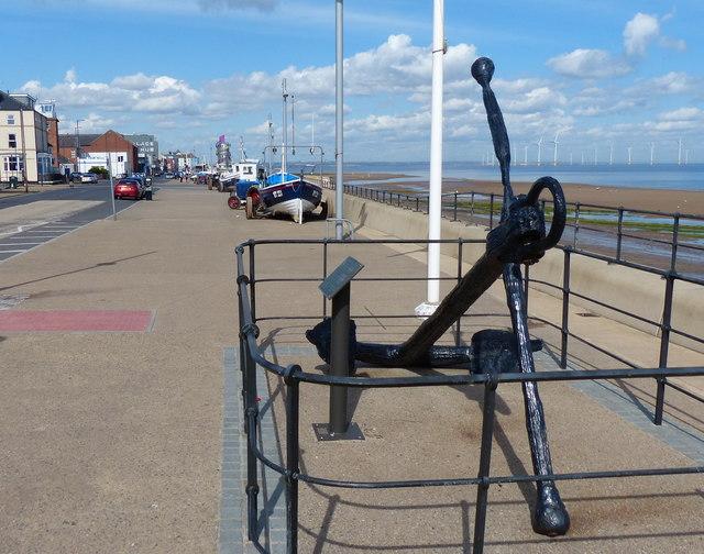 Anchor along Redcar seafront