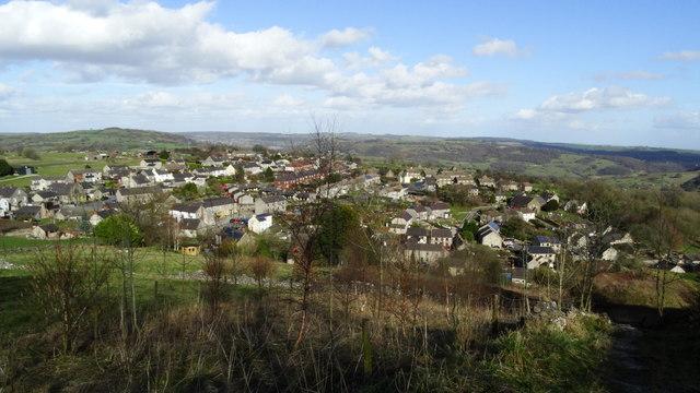 View NE over Middleton near Wirksworth