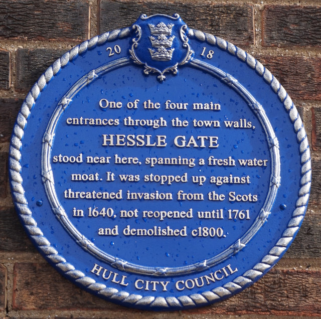Hessle Gate Blue Plaque