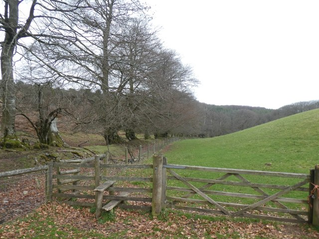 Gate and stile, edge of West Hill