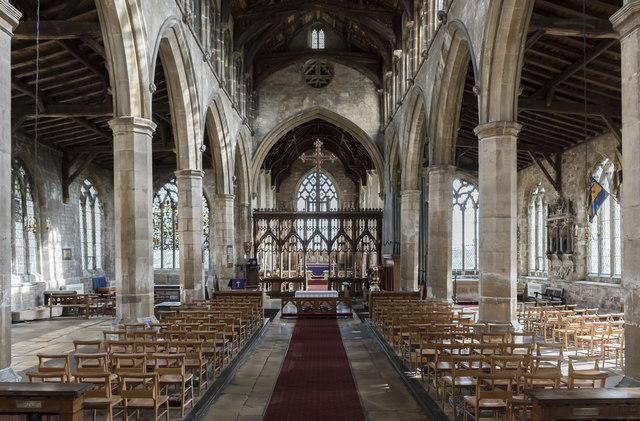 Interior, St Mary Magdalene church, Gedney