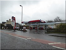 SN0038 : Filling station and convenience store in Dinas Cross by Jeremy Bolwell