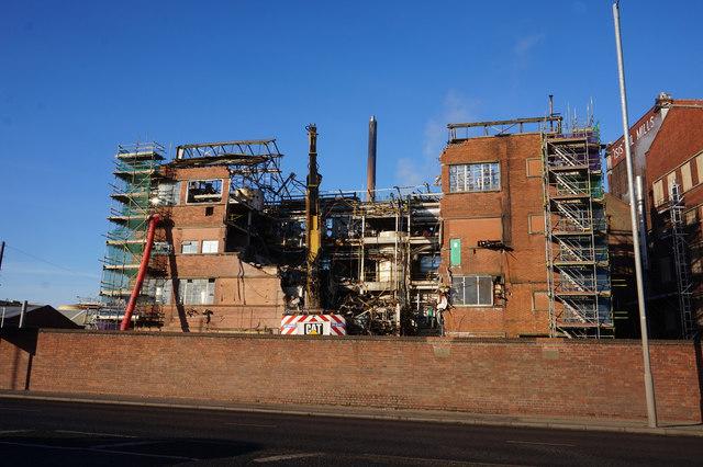 Demolition  of the Gargill Factory