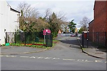 SO8376 : Entrance drive to St. Ambrose Catholic Primary School, Leswell Street, Kidderminster, Worcs by P L Chadwick