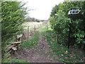 TQ4861 : Public footpath, Halstead by Malc McDonald
