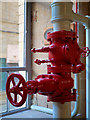 SE1438 : Pipes and Valves at Salts Mill by David Dixon