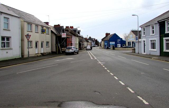 B4329 junction in Prendergast, Haverfordwest